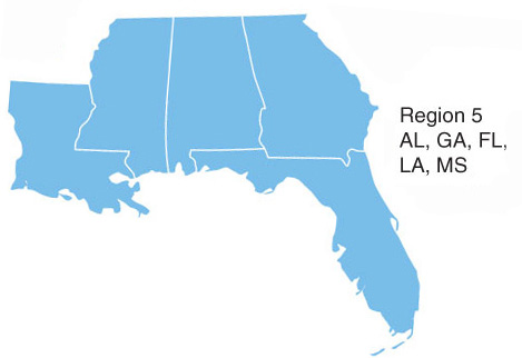 region 5 graphic