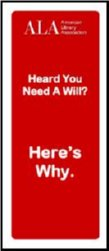 Cover of pamphlet on Why You Need a Will