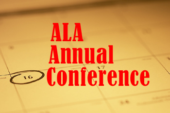 A picture of a calendar with a date circled and ALA Annual Conference