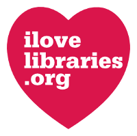I Love Libraries a Heart with ilovelibraries.org inside