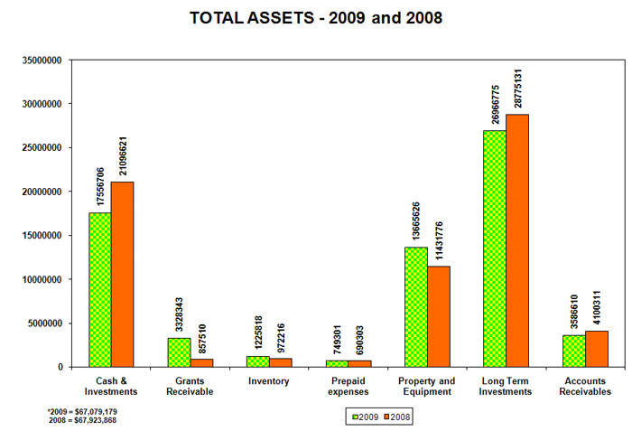 total assets, 2009 and 2008