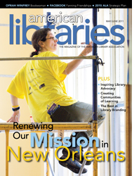 American Libraries cover, renewing our mission in New Orleans