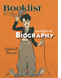 Booklist cover, spotlight on biography