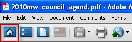 Icon to view the agenda