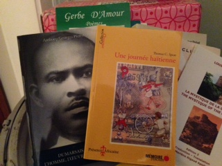 image of books donated-haiti