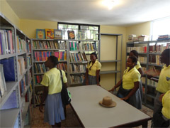 Petit Goave inside library