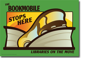 Bookmobile Cling from the ALA Store