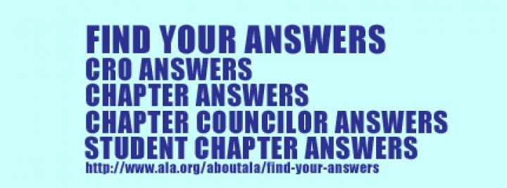 Find Your Answers for CRO, Chapters, Chapter Councilors, and Student Chapters