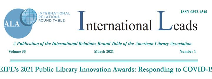 International Leads Newsletter screenshot