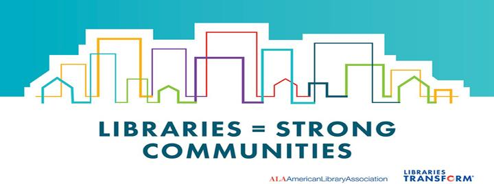 Libraries equal Strong Communities logo