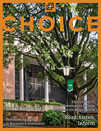 cover image August 2018 issue, Library,  University of South Carolina Upstate, Spartanburg, SC