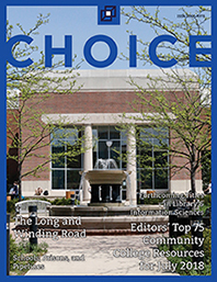 cover image, A.C. Buehler Library, Elmhurst College, Elmhurst, IL  July 2018 issue.