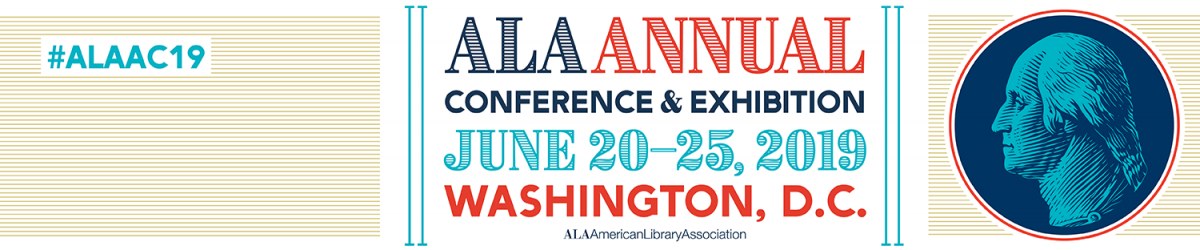 Logo for 2019 ALA Annual Conference in Washington, DC
