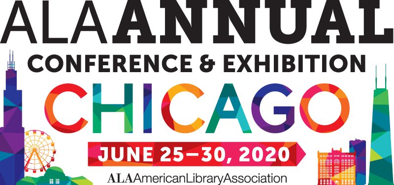 Logo for 2020 ALA Annual Conference in Chicago