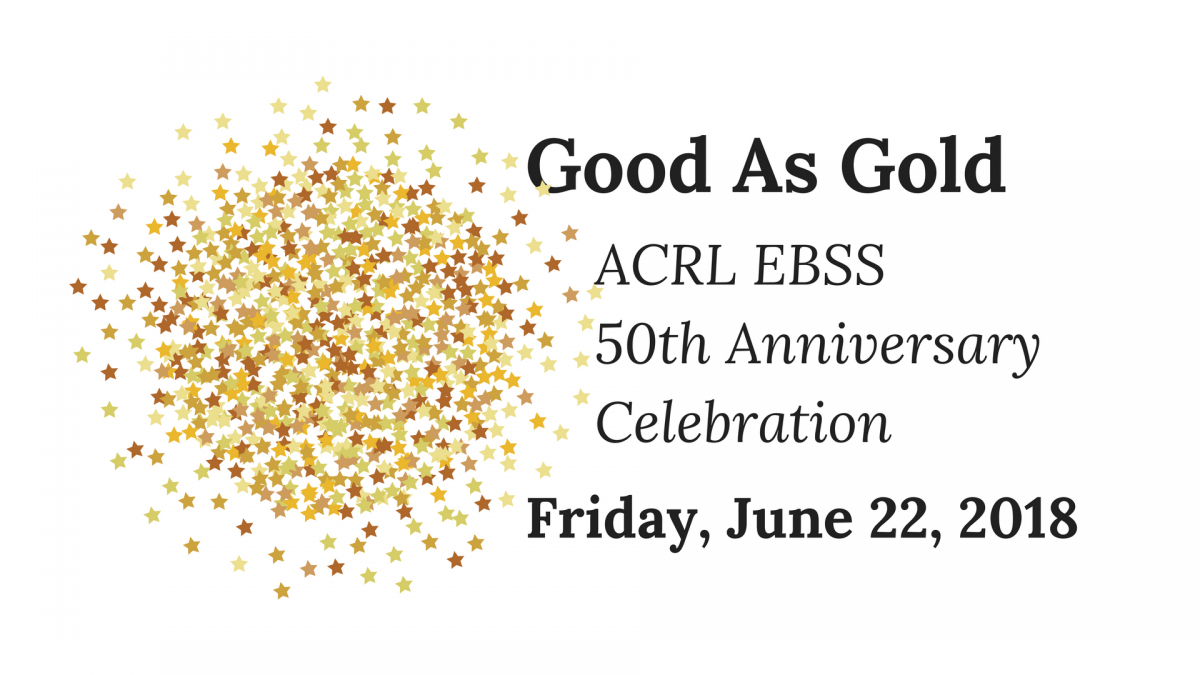 EBSS Good as Gold 50th Anniversary logo with stars