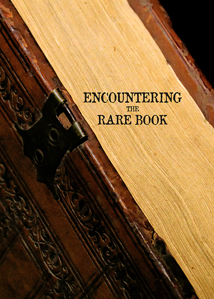 "Image of cover for ""Encountering the Rare Book"""