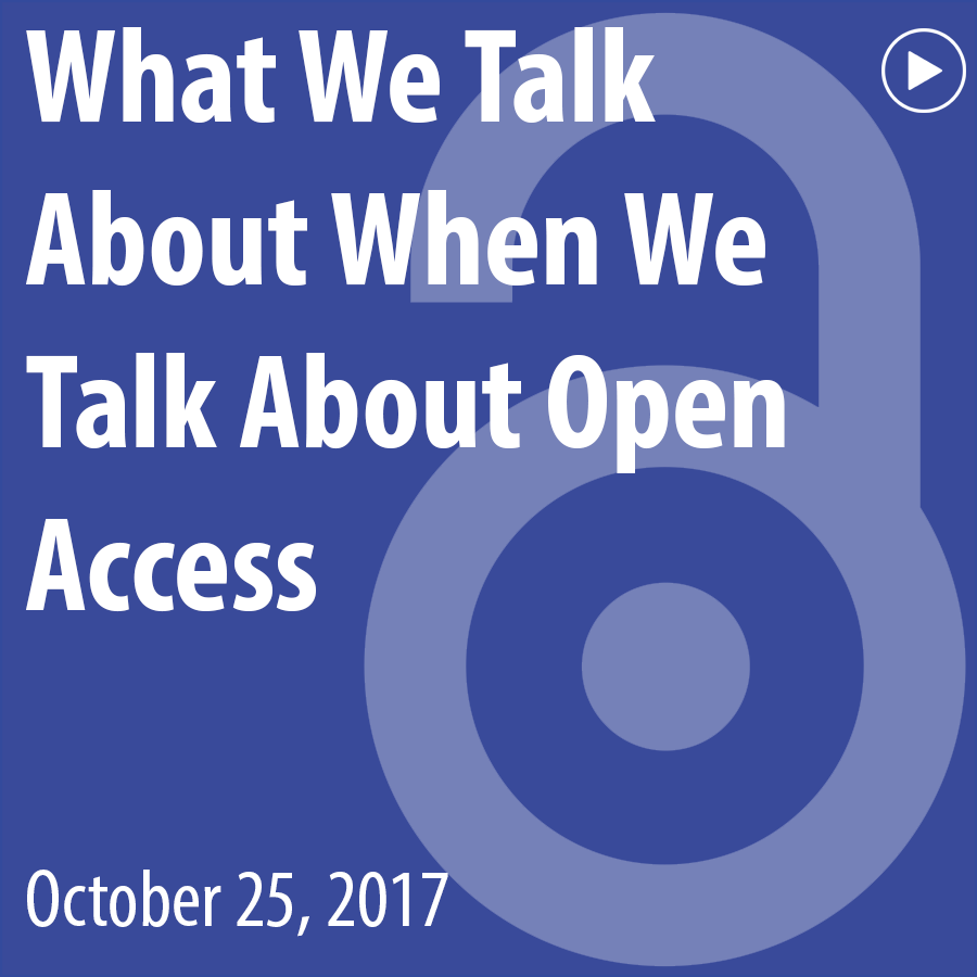 What We Talk About When We Talk About Open Access