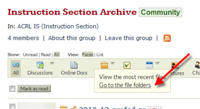 Image of how to add documents to community