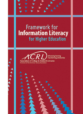 Cover of Framework for Information Literacy for Higher Education booklet