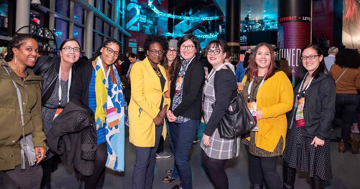 Photo of members at ACRL 2019 Conference reception