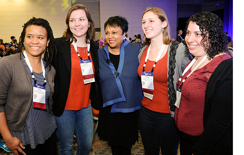 Attendees pose with Carla Hayden at ACRL 2017