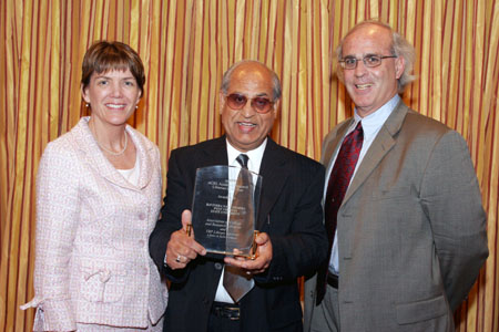 Frances Maloy, ACRL Past President; Ravindra Nath Sharma, library director at West Virginia State University; and Bob Nardini, vice president of YBP Library Services