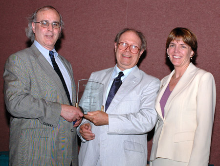 Left to right: Bob Nardini, Vice President of YBP Library Services, Tom Kirk, library director and coordinator of Information Services at the Lilly Library of Earlham College, and Frances Maloy, ACRL President