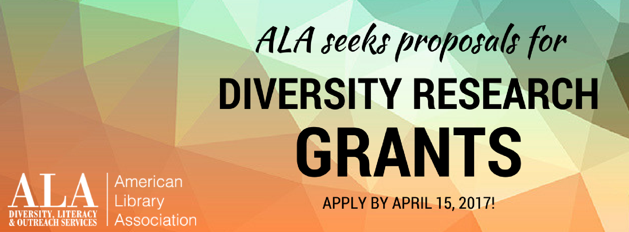 ALA seeks proposals for Diversity Research Grants by April 15