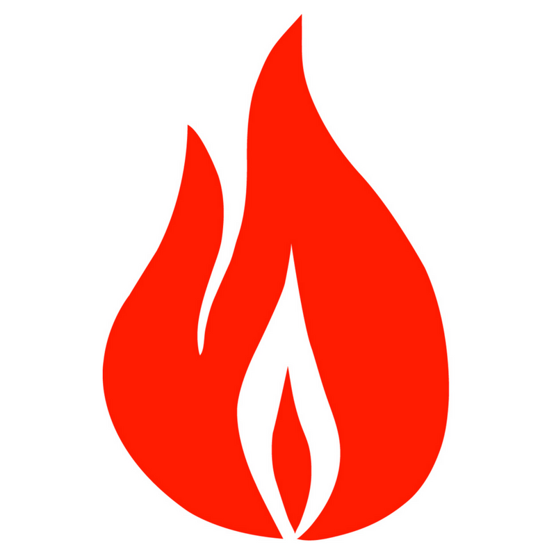 Orange flame - logo of the Office for Intellectual Freedom