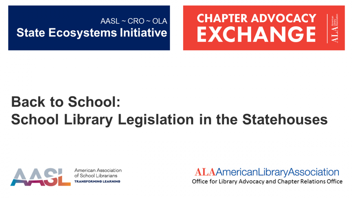 Webinar_Back to School: School Library Legislation in the Statehouses