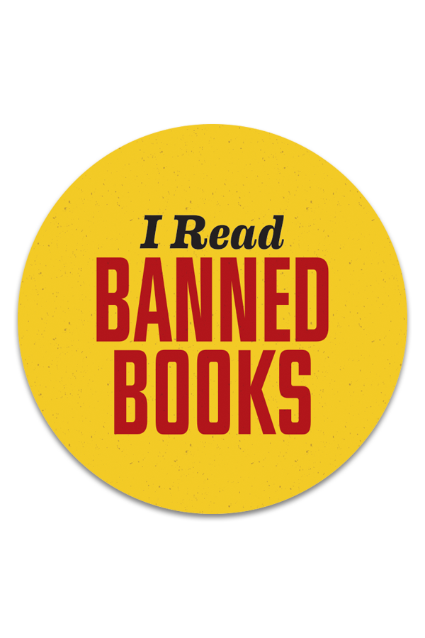 I Read Banned Books sticker roll
