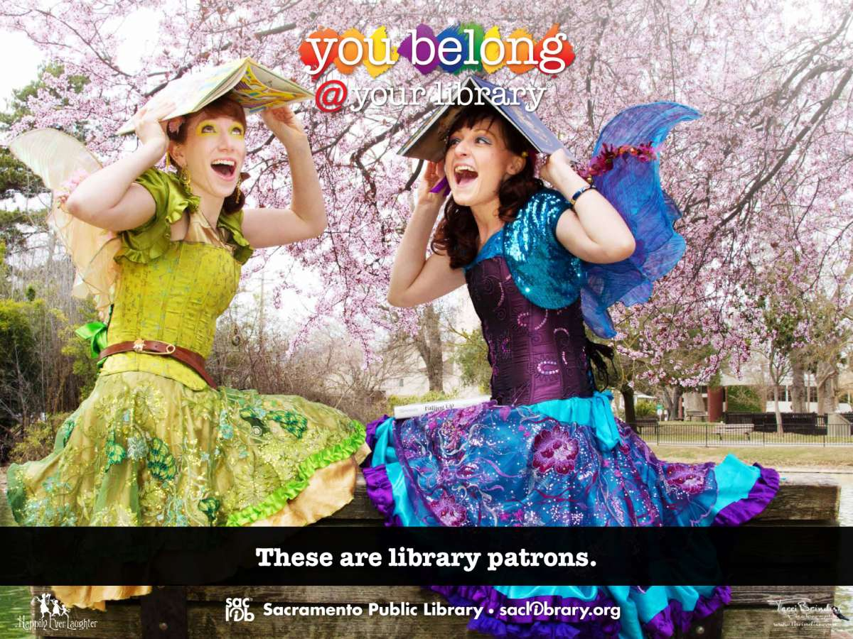 You belong @ your library These are library patrons