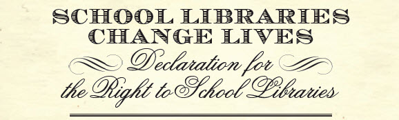 Declaration for the Right to School Libraries logo