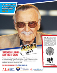 Public Service Announcement featuring Stan Lee