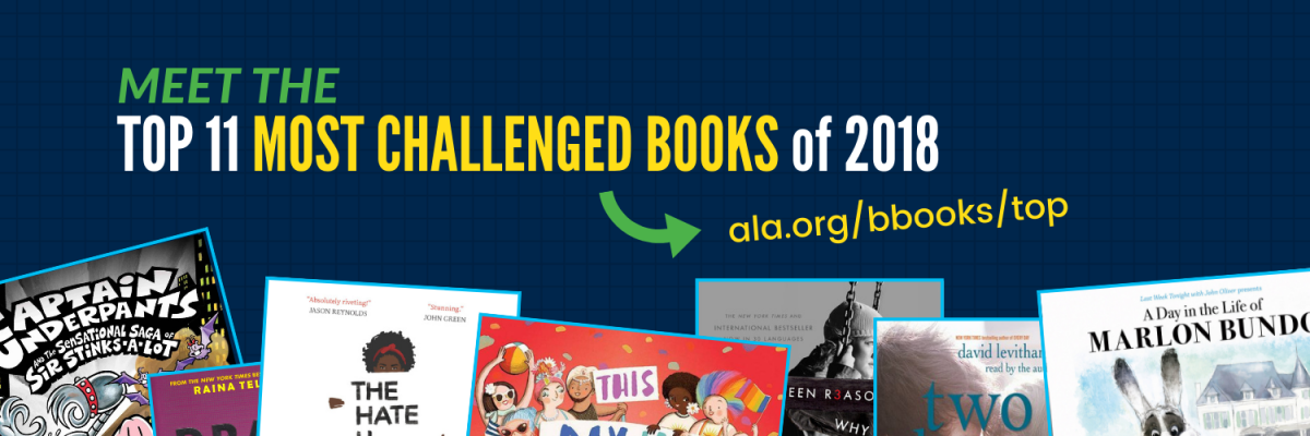 A preview of the top 11 most challenged books of 2018