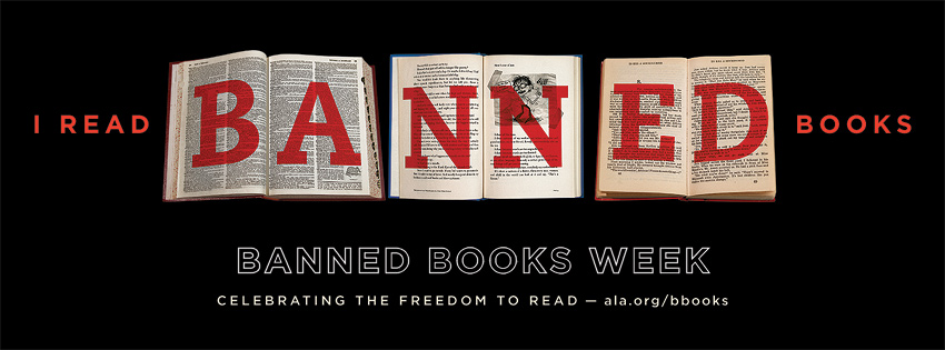 "banner image stating ""i read banned books"" for banned books week"