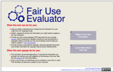 Fair Use Evaluator graphic