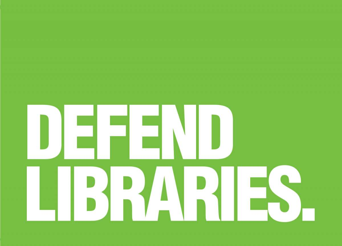 Postcard: Defend Libraries