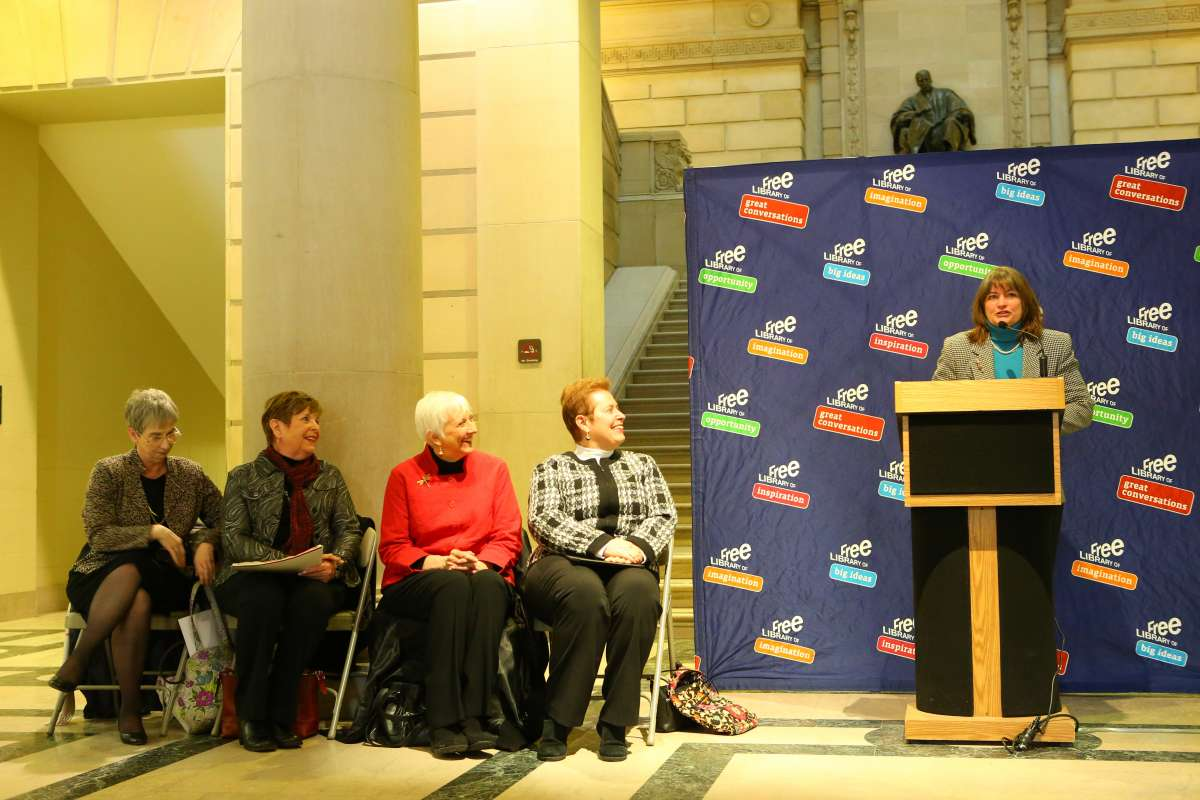 Declaration for the Right to Libraries event at the Philadelphia Free Library
