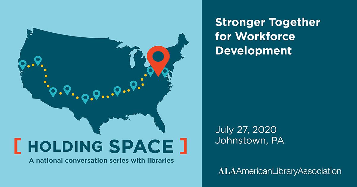Facebook share:  Stronger Together for Workforce Development July 27, 2020 Johnstown, PA