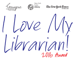 I Love My Librarian Award 2016