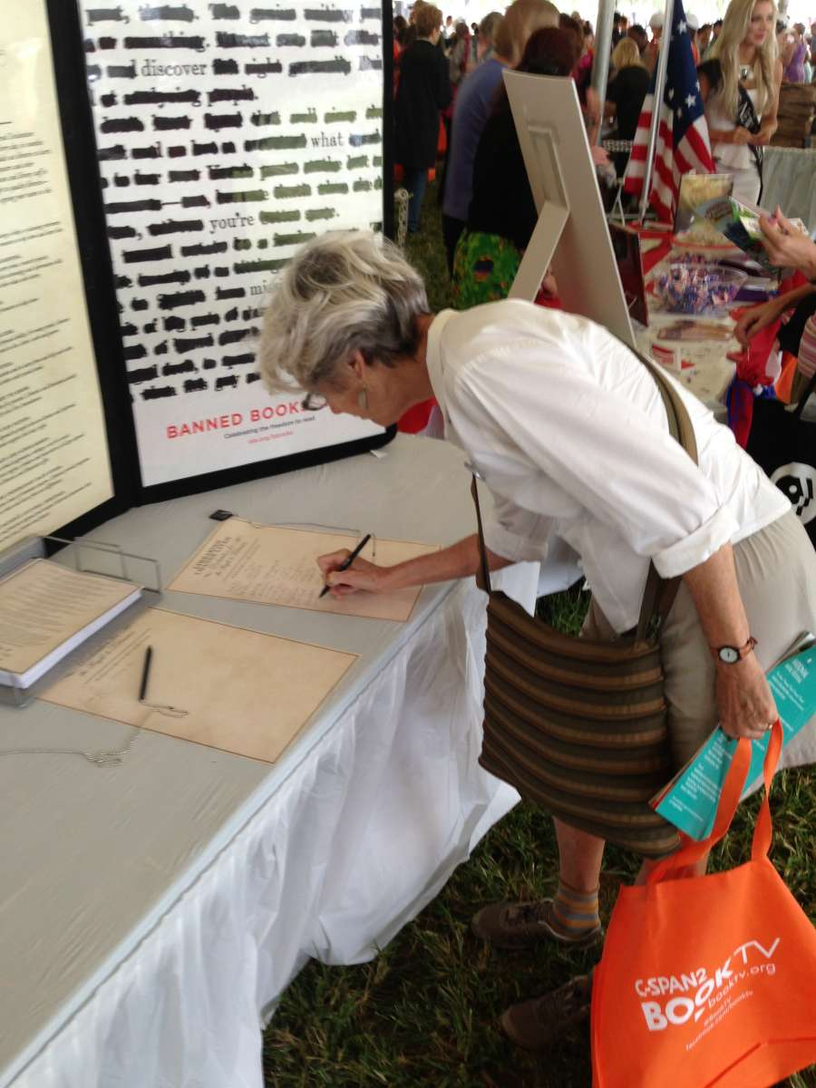 Declaration for the Right to Libraries at the 2013 National Book Festival