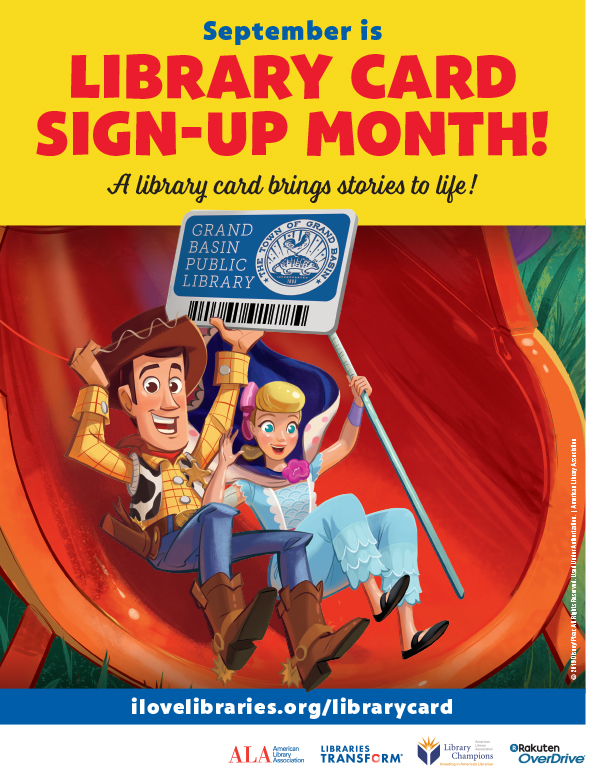 September is Library Card Sign-up Month. A library card brings stories to life!