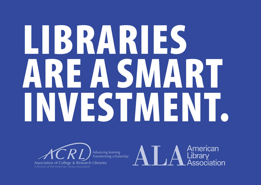 Postcard: Libraries Are a smart investment
