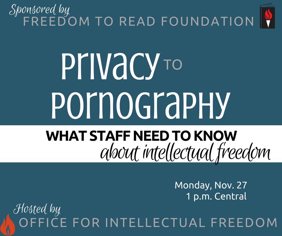 ALA Webinar Privacy to Pornography