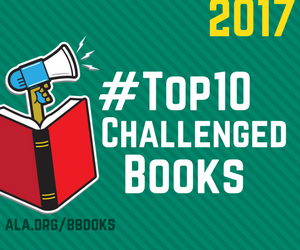Top Ten Most Challenged Books 2017 boombox