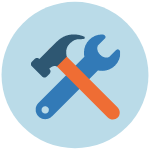 A hammer and a wrench.