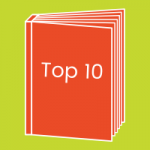 """A book standing upright with the words """"Top 10"""" on the cover"""
