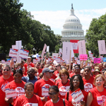 Library advocates marching in Washington