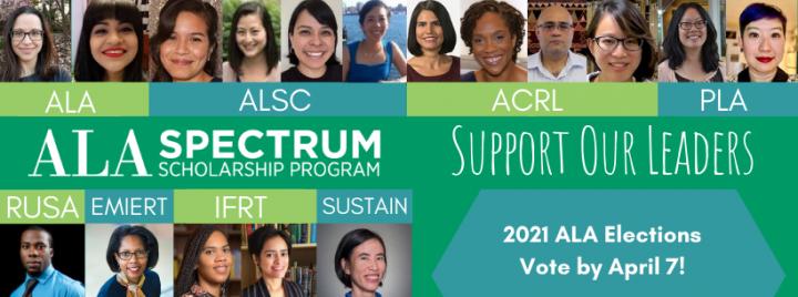 Spectrum Scholars running for office in ALA in 2021